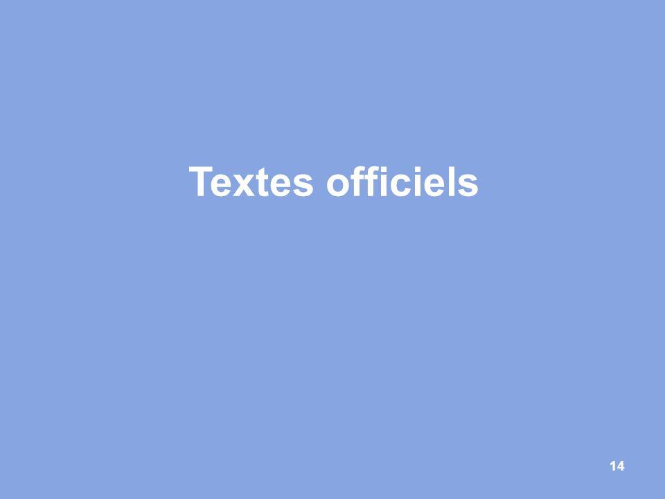 14 Textes officiels