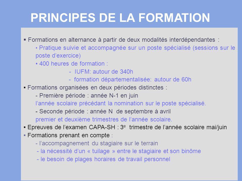3 Formations en alternance à partir de deux modalités interdépendantes : Pratique suivie et accompagnée sur un poste spécialisé (sessions sur le poste