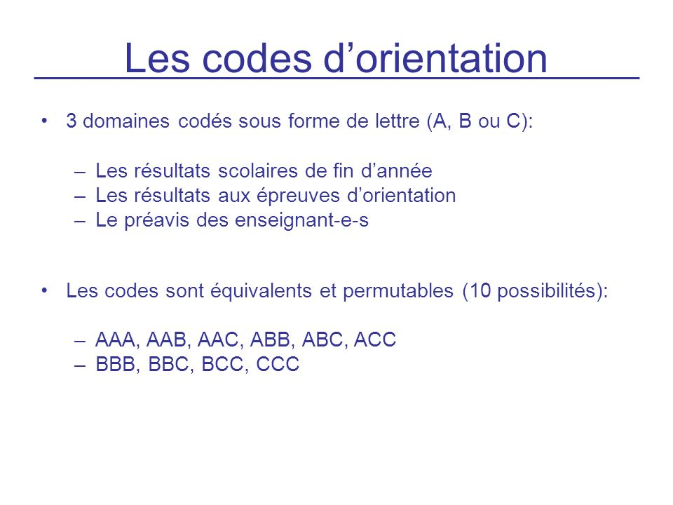 Codes pour les notes FRA – MATHS – ALL : 15PTS CODE A MG : 5 FRA – MATHS – ALL : 13.5PTS CODE B MG : 4.5 FRA – MATHS : 8PTS CODE C MG : 4.0