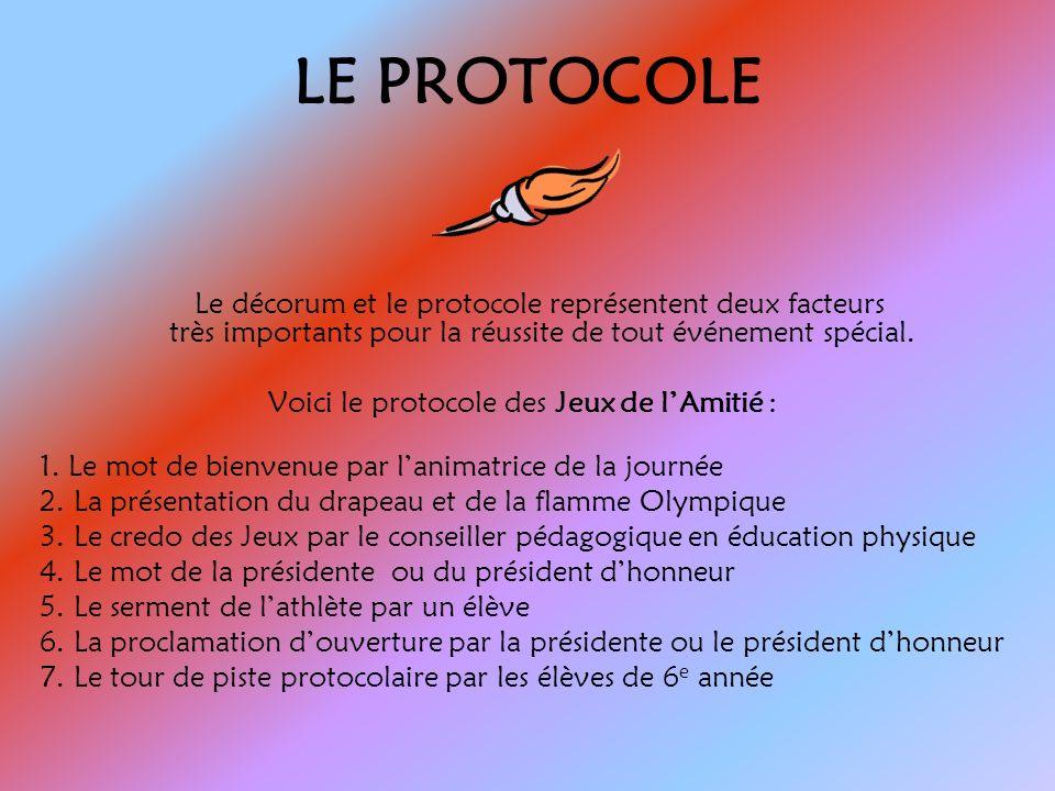 LE PROTOCOLE Le décorum et le protocole représentent deux facteurs très importants pour la réussite de tout événement spécial.