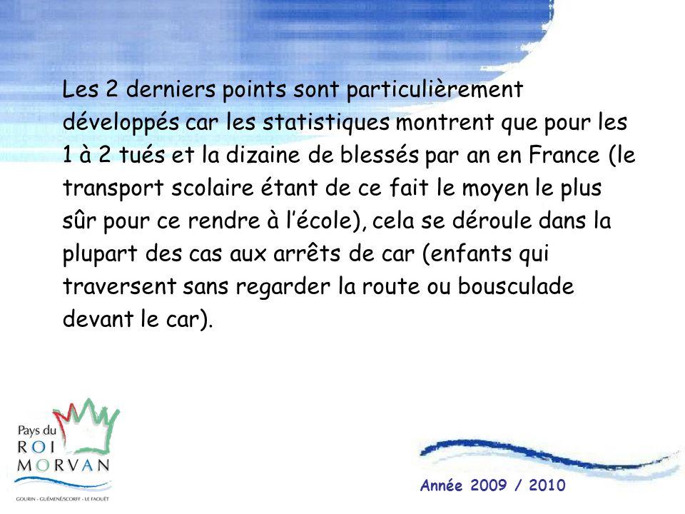 Les 2 derniers points sont particulièrement développés car les statistiques montrent que pour les 1 à 2 tués et la dizaine de blessés par an en France