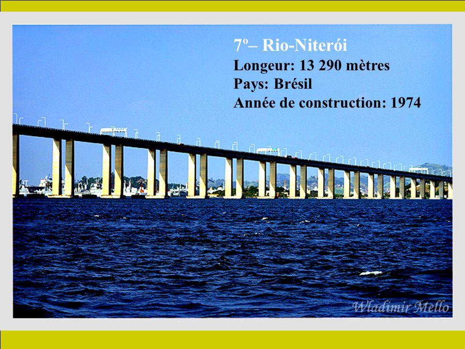 8º – Confederation Longeur: 12 900 mètres Pays: Canada Année de construction: 1997