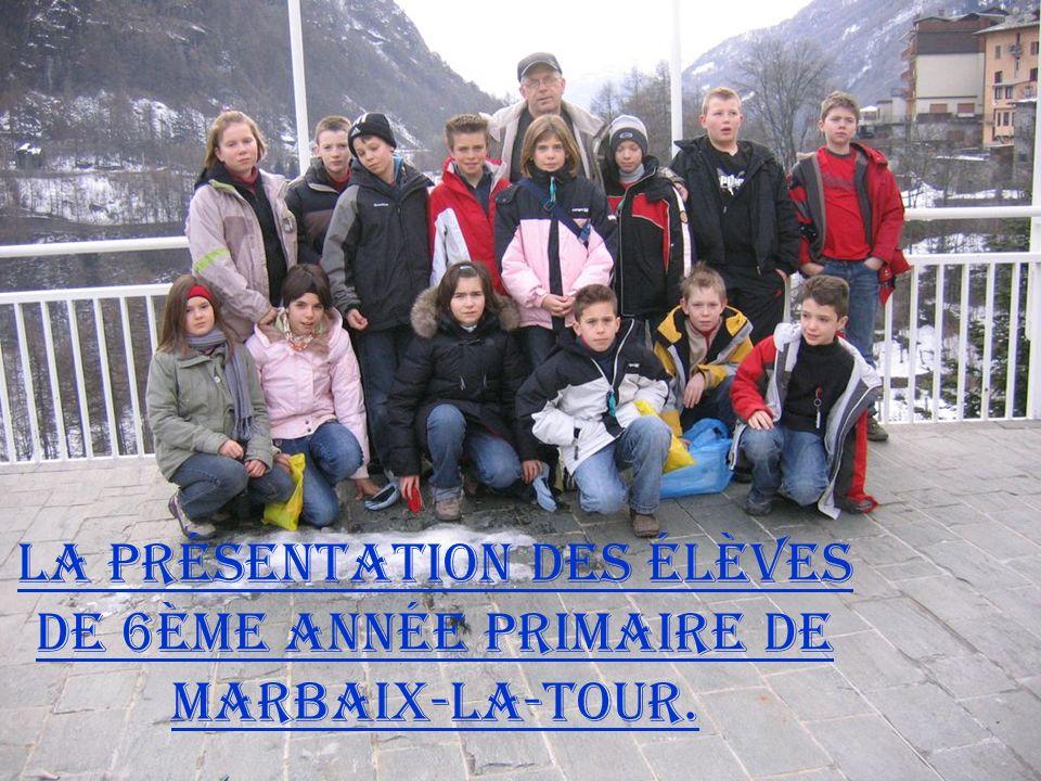 La présentation des élèves de 6ème année primaire de Marbaix-la-Tour.