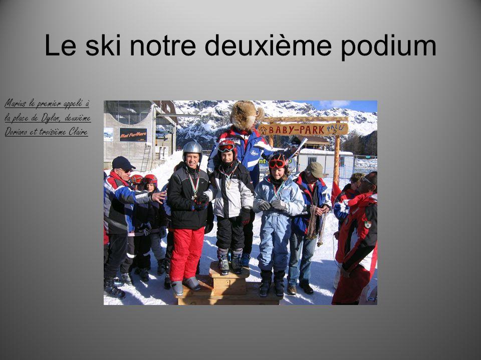 Le ski notre deuxième podium Marius le premier appelé à la place de Dylan, deuxième Doriano et troisième Claire