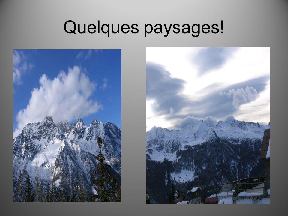 Quelques paysages!
