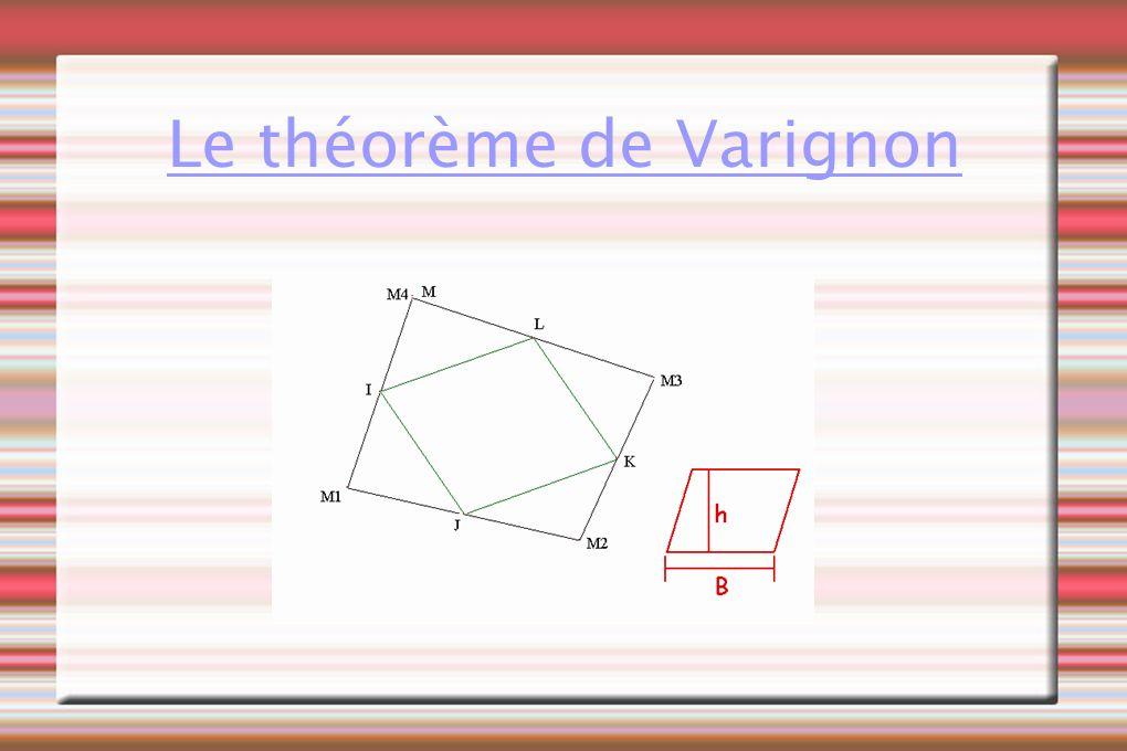 En joignant les milieux d un quadrilatère quelconque, on obtient un parallélogramme.