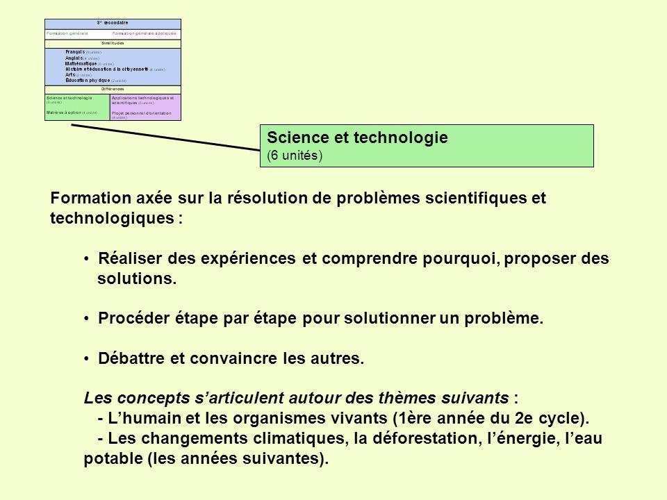 Applications technologiques et scientifiques (6 unités) Formation pratique qui sappuie sur les applications concrètes pour aborder les concepts suivants: Manipuler les objets, comprendre comment ils fonctionnent.