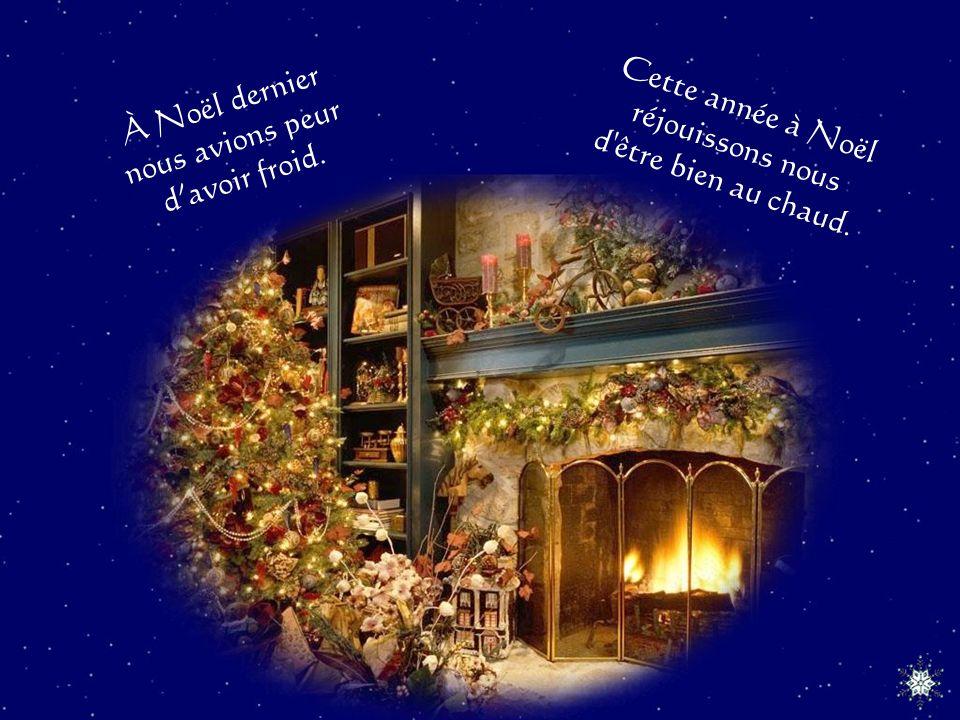 À Noël dernier nous avons remercié pour tous les cadeaux.