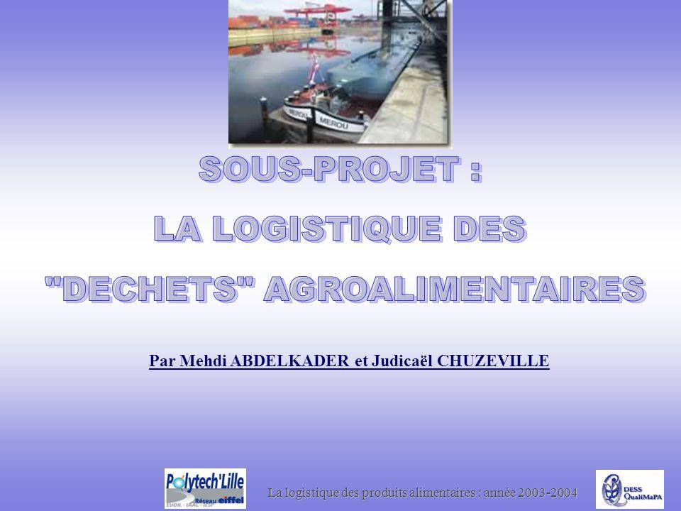 La logistique des produits alimentaires : année 2003-2004 Par Mehdi ABDELKADER et Judicaël CHUZEVILLE