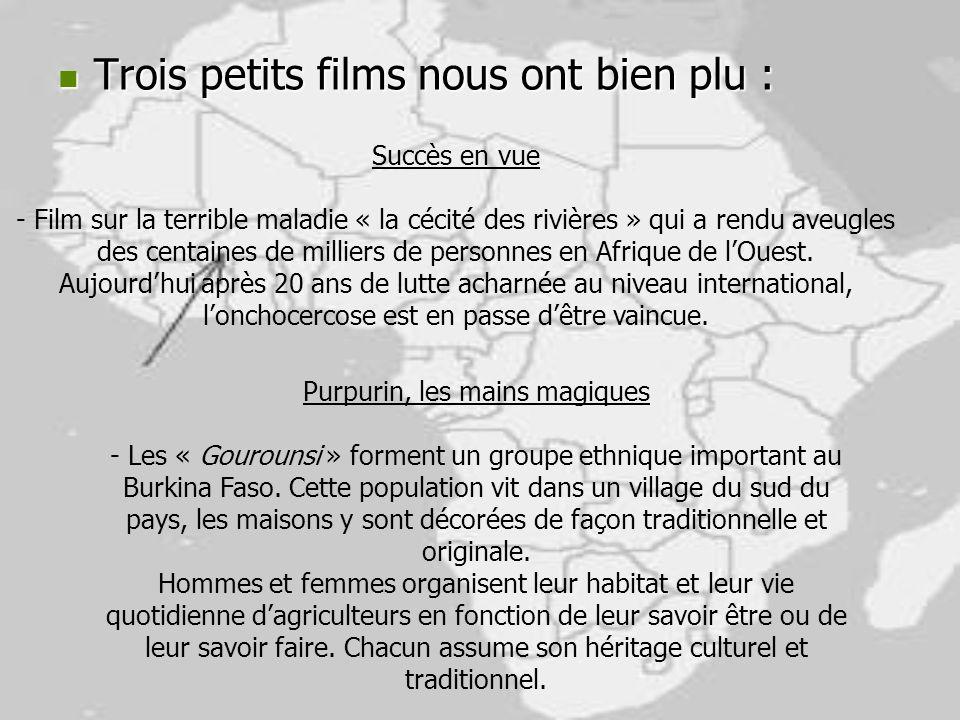 Trois petits films nous ont bien plu : Trois petits films nous ont bien plu : Succès en vue - Film sur la terrible maladie « la cécité des rivières »