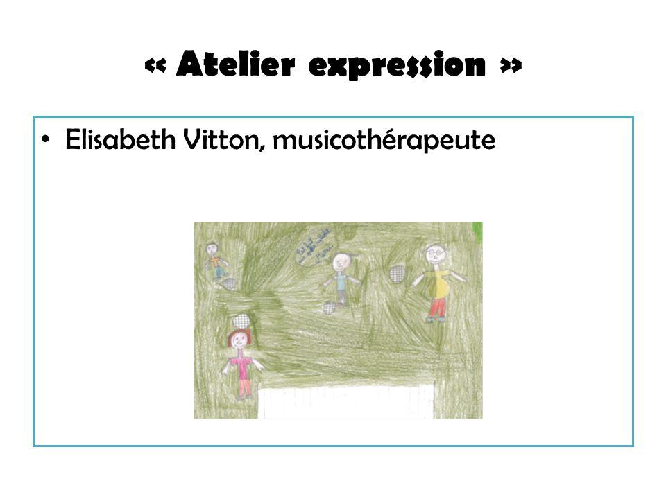 « Atelier expression » Elisabeth Vitton, musicothérapeute
