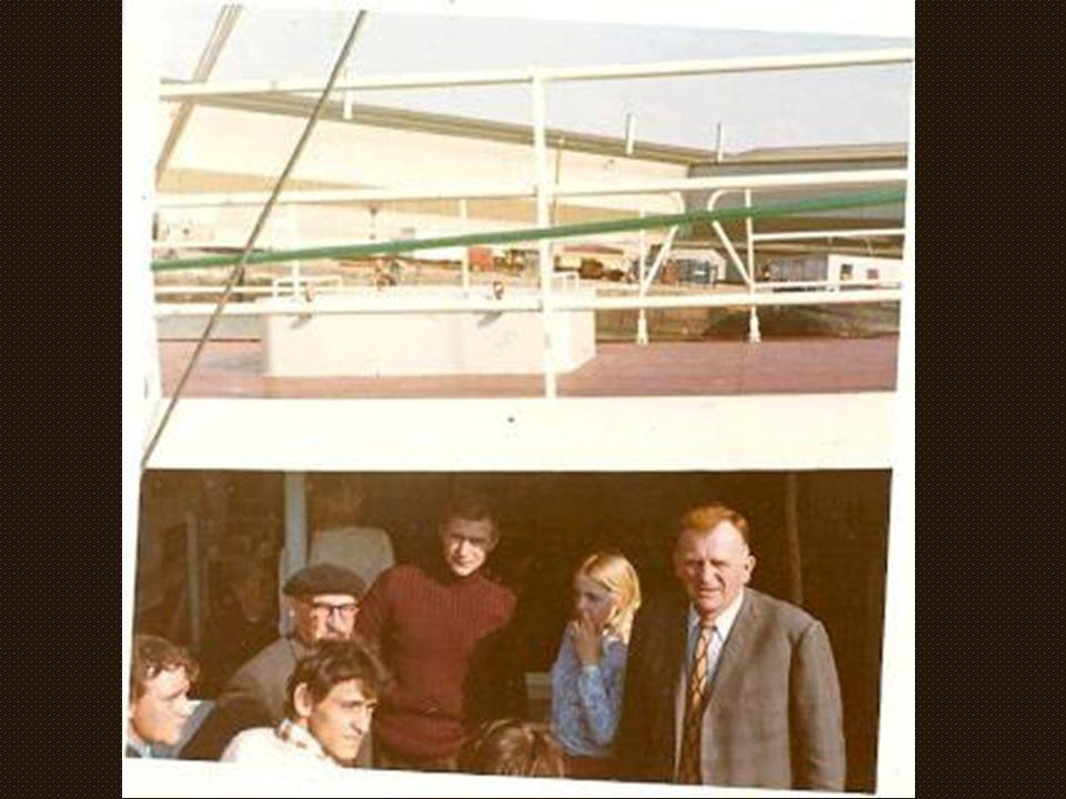 Baptême du « croisé » Armement Leprêtre de Grand Fort 1972 à Calais