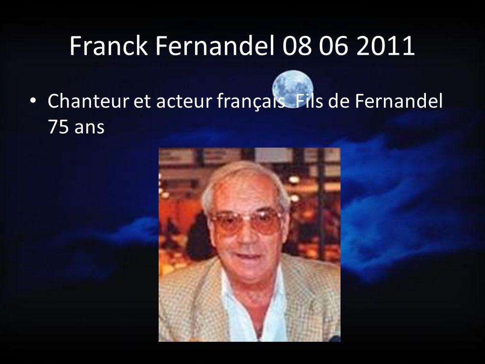 Ricet Barrier 21 05 2011 Chanteur et fantaisiste français : Voix de Saturnin ( entre autres )- Sainte-Christine (Puy de Dôme) - 78 ans.