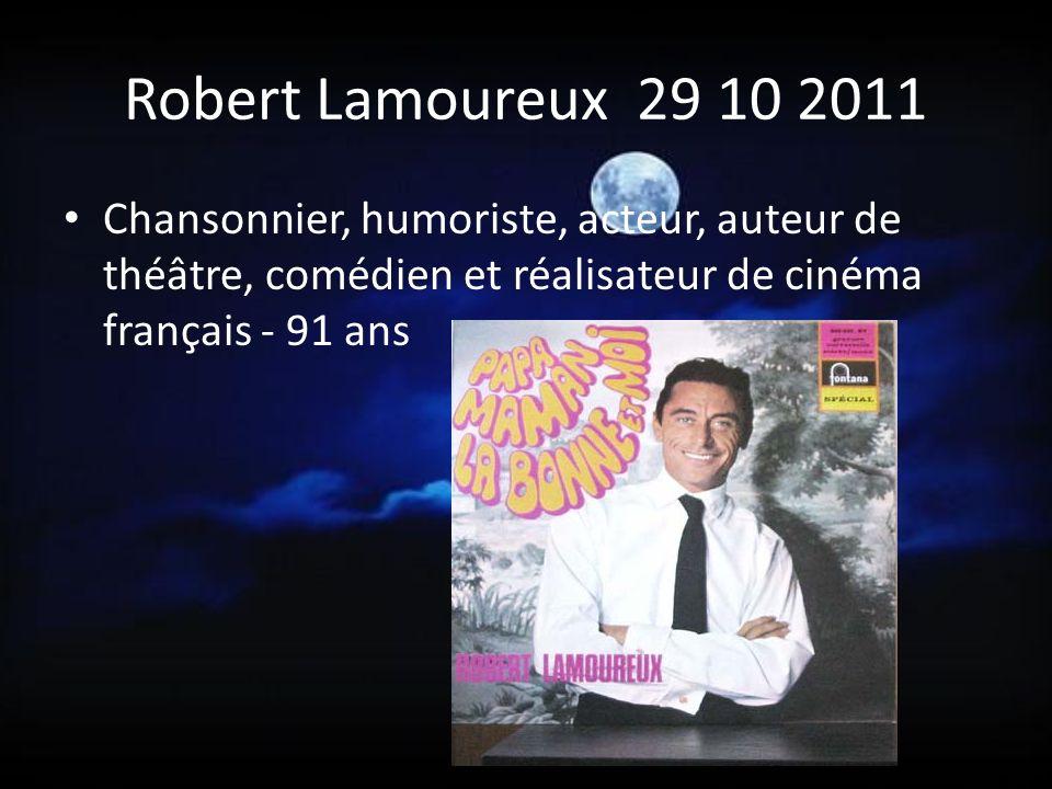 Jean Amadou 23 10 2011 Animateur, chansonnier, comédien, auteur et humoriste français, artiste aux multiples talents, une des Grosses Têtes et cofondateur du Bêbete show- 82 ans - Neuilly sur Seine.