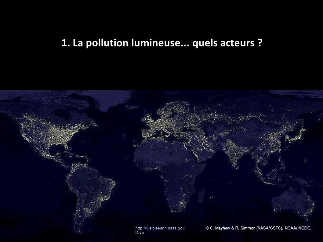 http://visibleearth.nasa.gov/http://visibleearth.nasa.gov/ © C. Mayhew & R. Simmon (NASA/GSFC), NOAA/ NGDC, Dive 1. La pollution lumineuse... quels ac