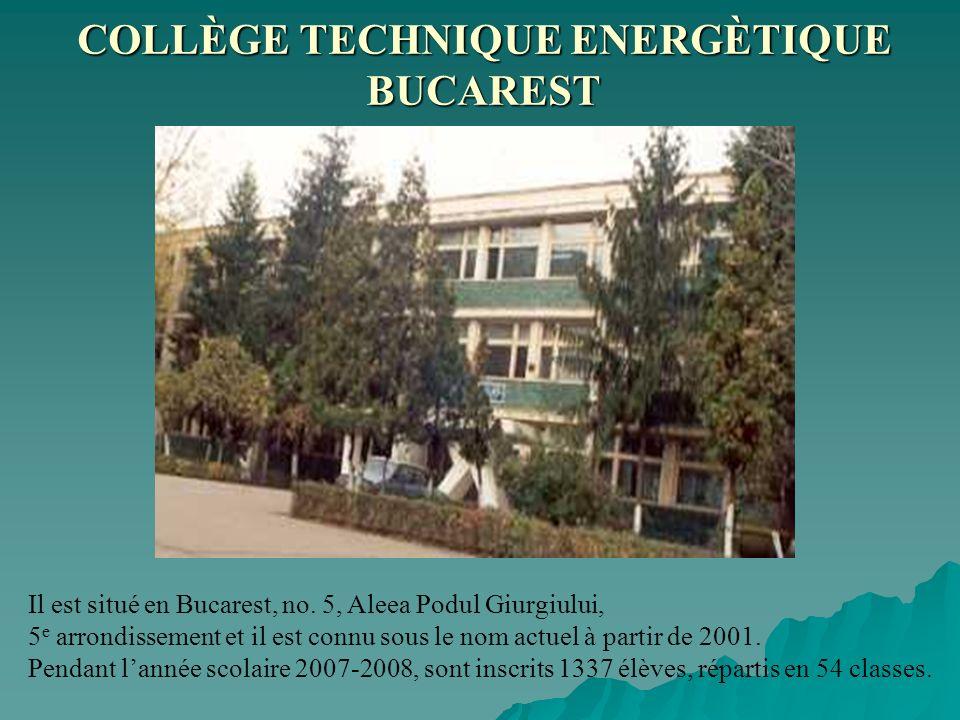 Il est situé en Bucarest, no. 5, Aleea Podul Giurgiului, 5 e arrondissement et il est connu sous le nom actuel à partir de 2001. Pendant lannée scolai