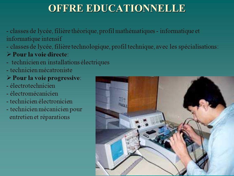 - classes de lycée, filière théorique, profil mathématiques - informatique et informatique intensif - classes de lycée, filière technologique, profil