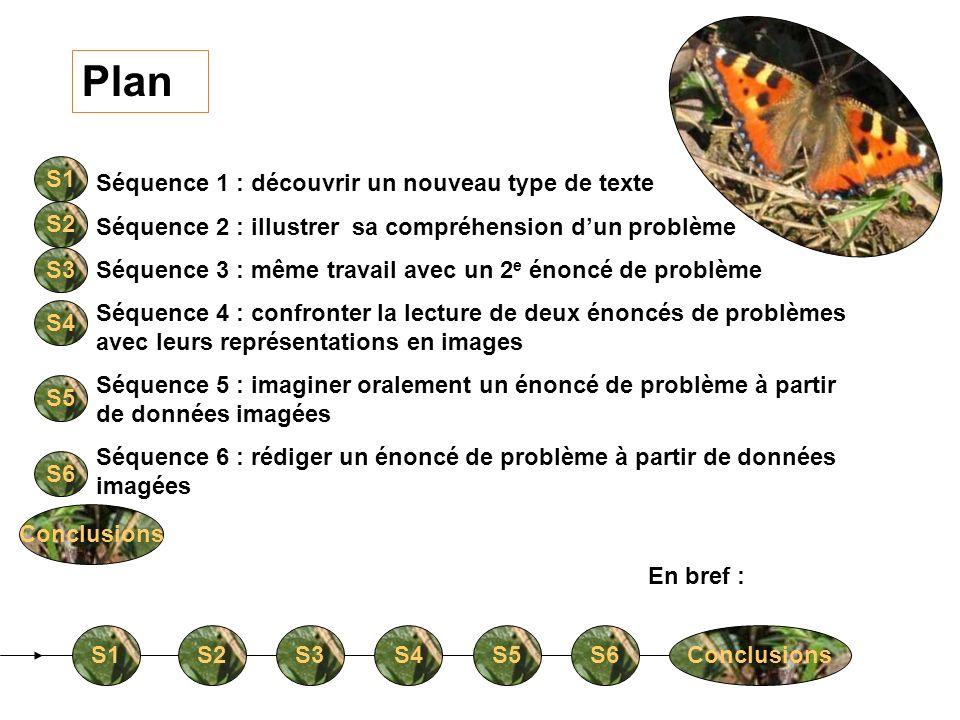 Plan Séquence 1 : découvrir un nouveau type de texte Séquence 2 : illustrer sa compréhension dun problème Séquence 3 : même travail avec un 2 e énoncé