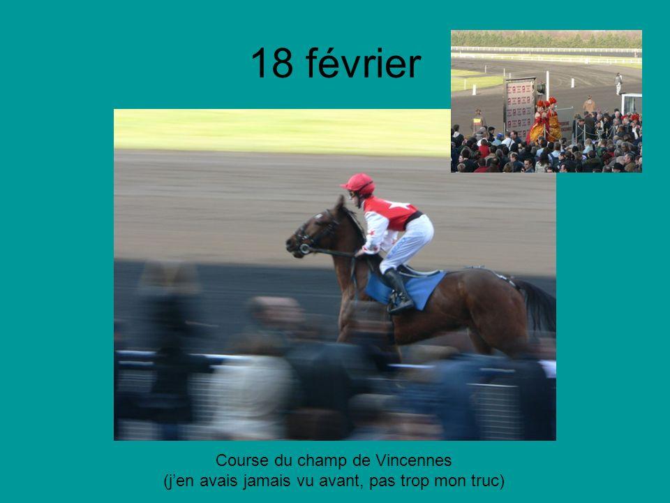 18 février Course du champ de Vincennes (jen avais jamais vu avant, pas trop mon truc)