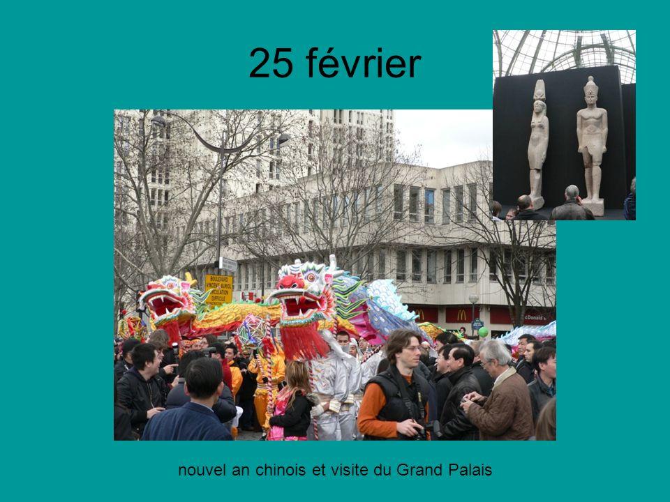 25 février nouvel an chinois et visite du Grand Palais