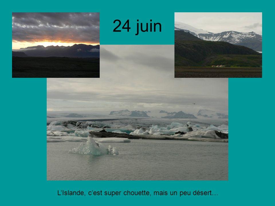 24 juin LIslande, cest super chouette, mais un peu désert…