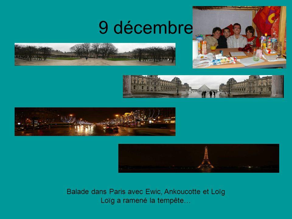 9 décembre Balade dans Paris avec Ewic, Ankoucotte et Loïg Loïg a ramené la tempête…