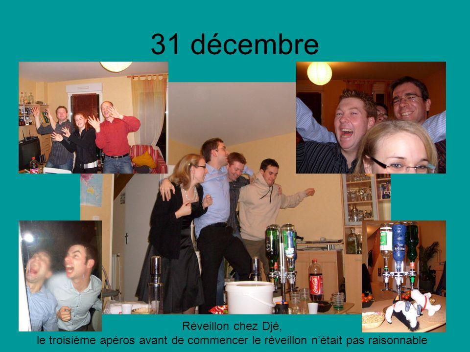 31 décembre Réveillon chez Djé, le troisième apéros avant de commencer le réveillon nétait pas raisonnable