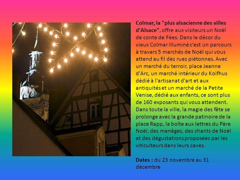 A Epinal, adorable petite ville située dans le département des Vosges, le marché de Noël se décline sur 3 sites : Place des Vosges, de la Chipotte et
