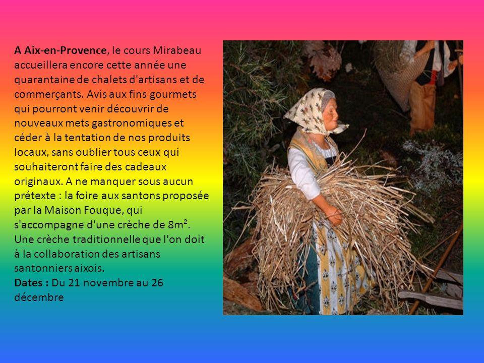 Ce sont quelques soixante chalets tous décorés d'éléments naturels avec des santonniers de Provence, des objets de décoration de la maison et du sapin