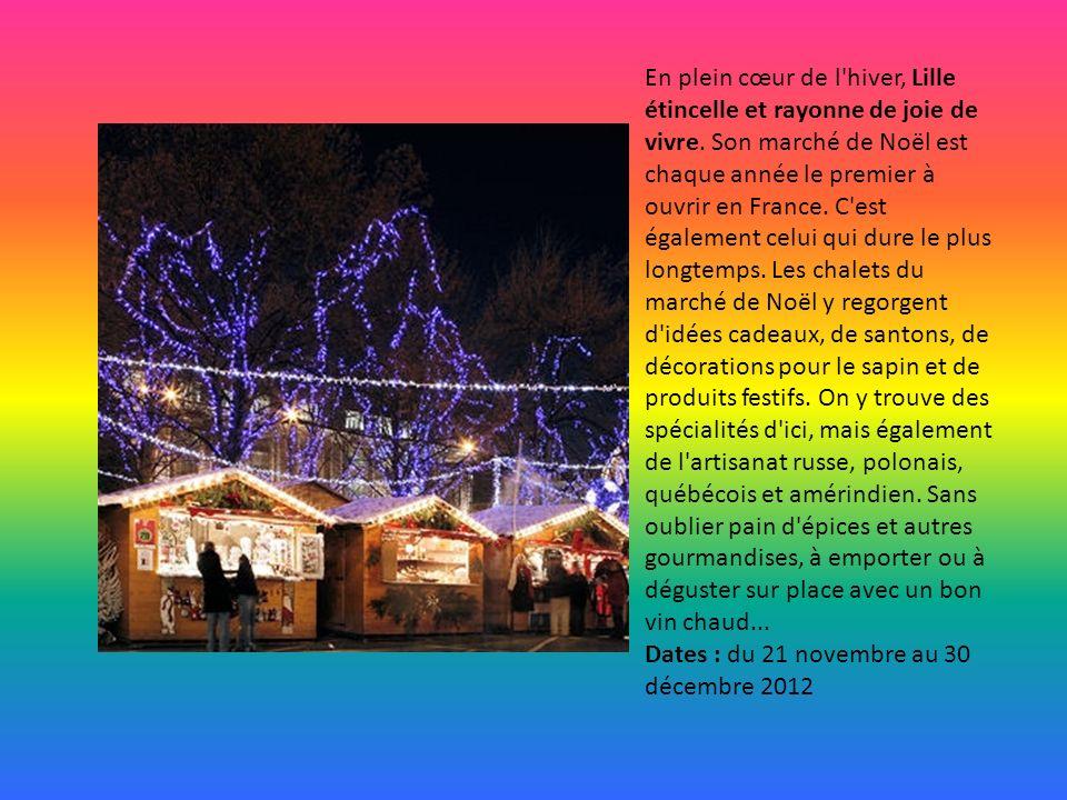 MAGIE DES MARCHES DE NOEL Les villes Françaises accueillent pour les Fêtes des chalets traditionnels regorgeant de produits du terroir et de cadeaux D