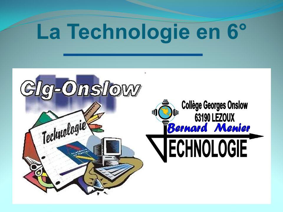 La Technologie en 6°