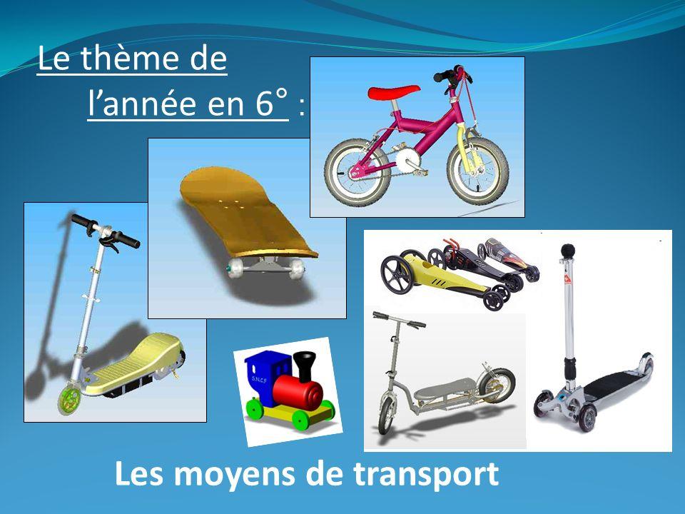 Le thème de lannée en 6° : Les moyens de transport