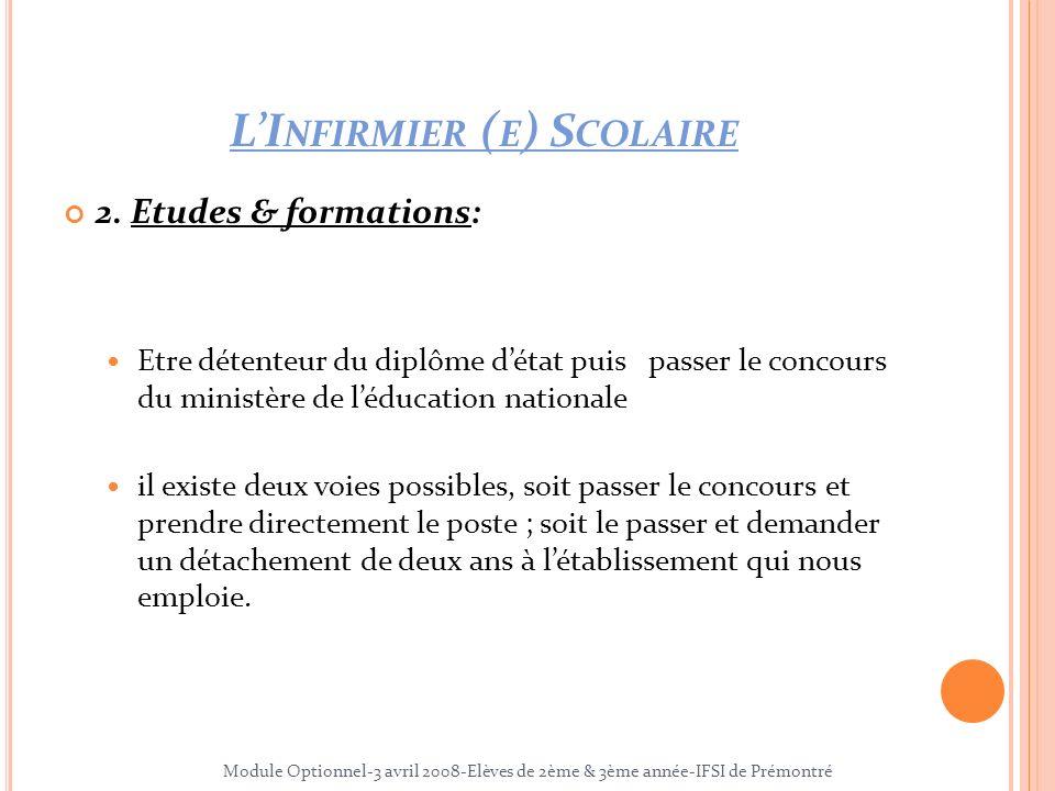 LI NFIRMIER ( E ) S COLAIRE 3.