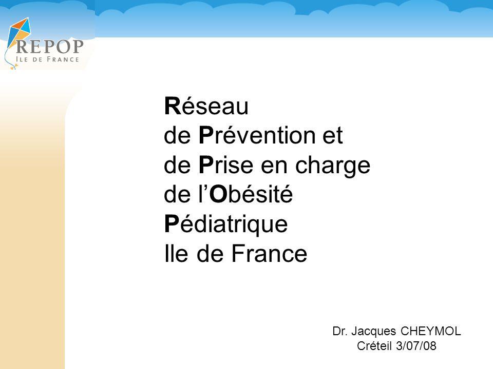 Réseau de Prévention et de Prise en charge de lObésité Pédiatrique Ile de France Dr.