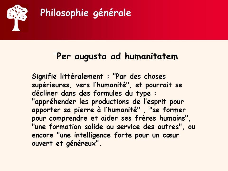 Philosophie générale