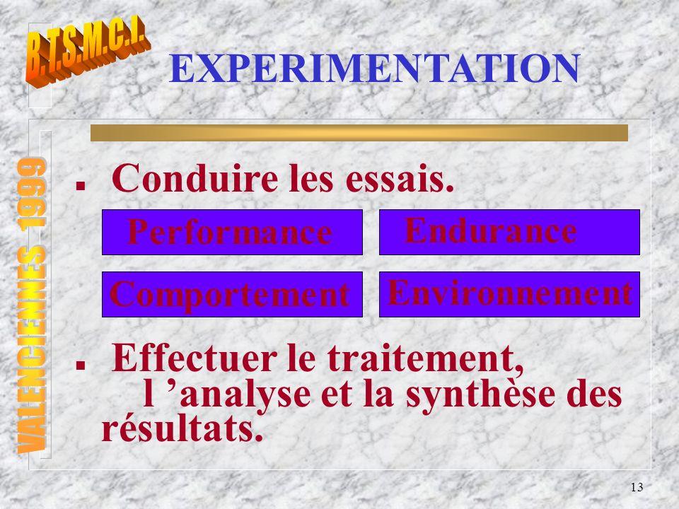 14 CONCEPTION EXPERIMENTATION CONCEPTION Standardisation Etudes de marché Etablir le CdCF de larchitecture dun moteur et de ses équipements Normes et Législation