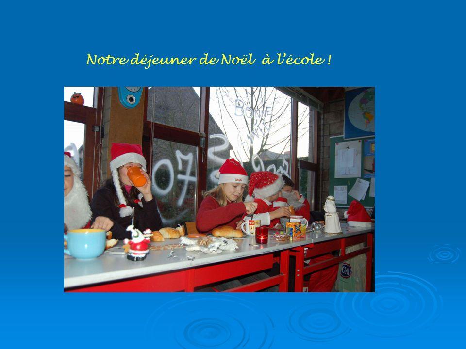 Notre déjeuner de Noël à lécole !
