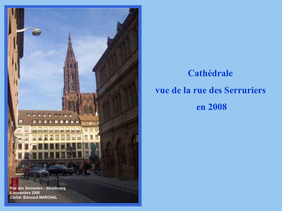 Cathédrale vue de la rue des Serruriers 1944