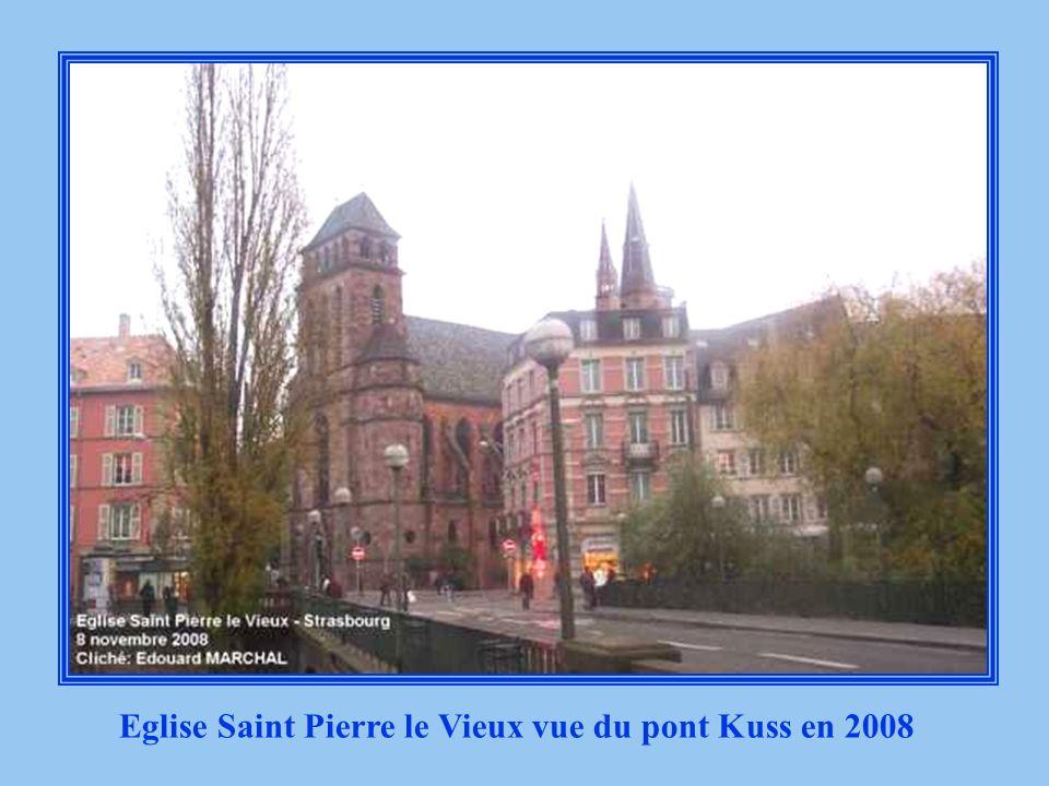 Eglise Saint Pierre le Vieux vue du pont Kuss 1930