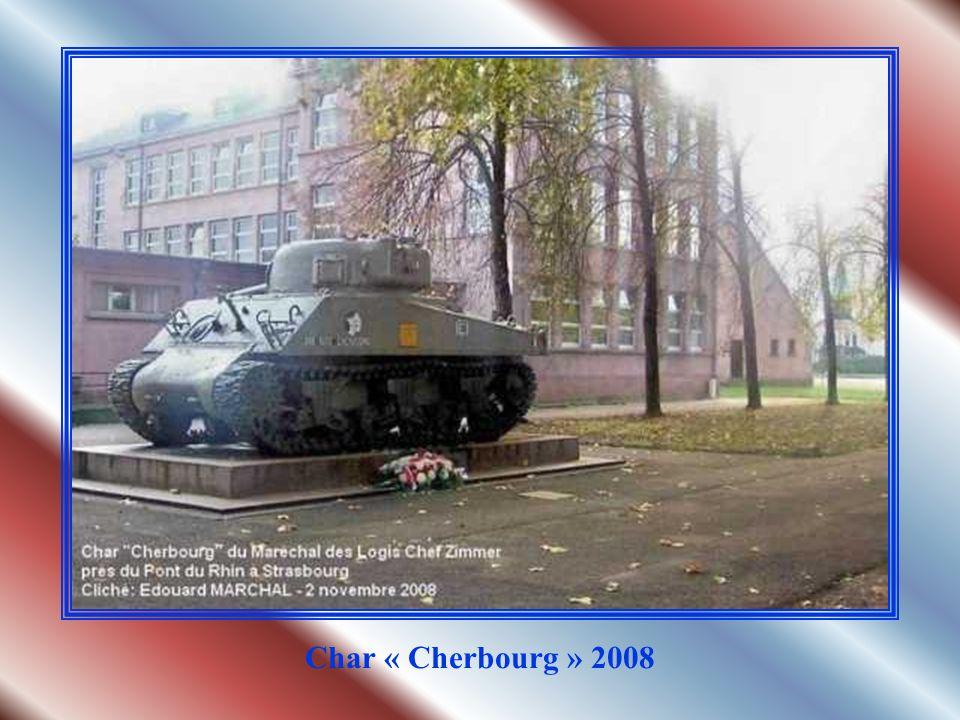 Char Sherman du Maréchal des Logis Chef ZIMMER Détruit près du pont du Rhin à Strasbourg le 23 novembre 1944