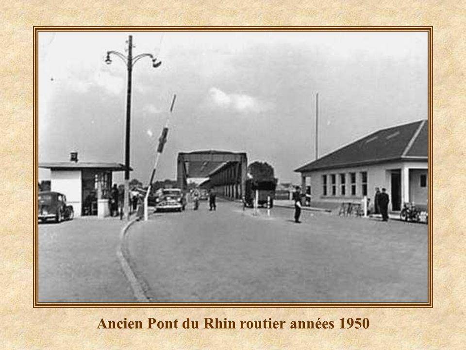 Ancien Pont du Rhin routier années 1950