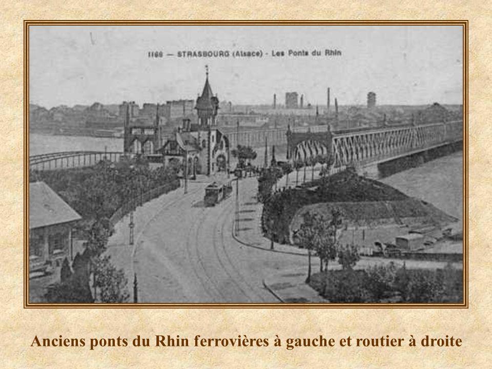 Emplacement de lancien Pont du Rhin routier
