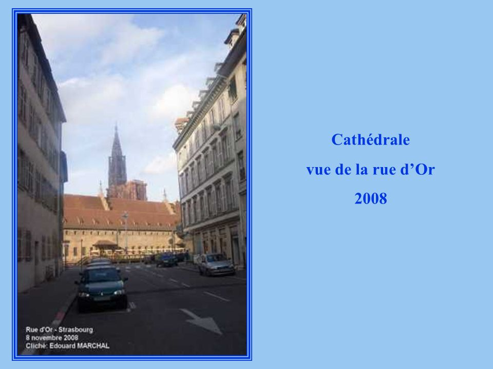 Cathédrale vue de la rue dOr Fin 19 ème siècle