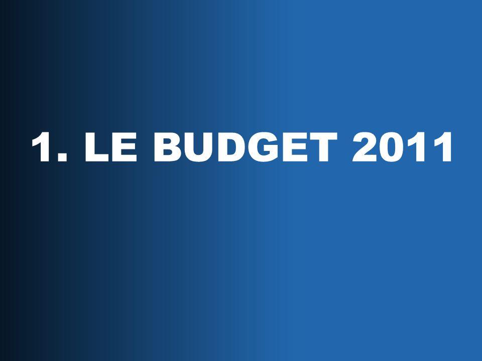 1. LE BUDGET 2011