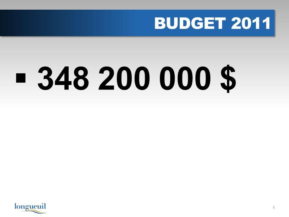 BUDGET 2011 348 200 000 $ 6