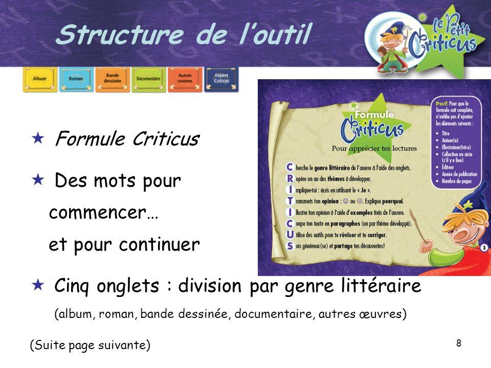 19 Guide danimation Criticus A.