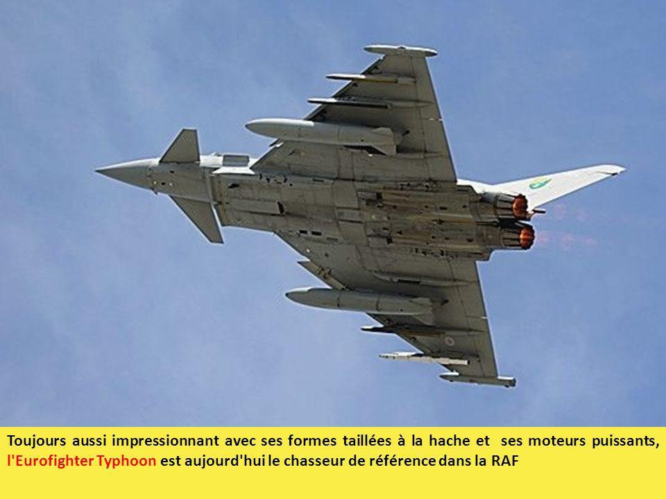 Toujours aussi impressionnant avec ses formes taillées à la hache et ses moteurs puissants, l'Eurofighter Typhoon est aujourd'hui le chasseur de référ