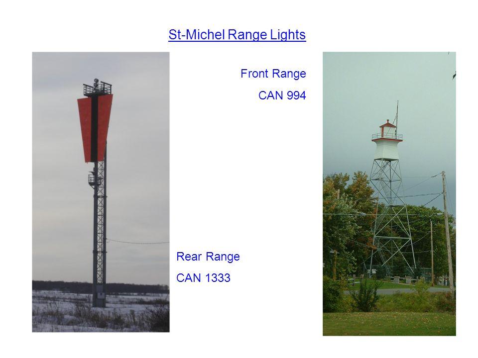 St-Michel Range Lights Rear Range CAN 1333 Front Range CAN 994