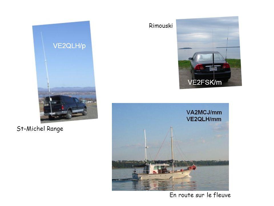 VE2QLH/p VE2FSK/m St-Michel Range Rimouski En route sur le fleuve