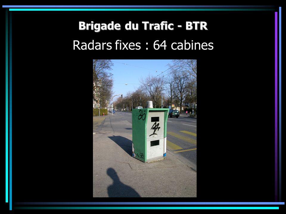 Brigade du Trafic - BTR Radars fixes : 64 cabines